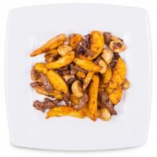 Говядина с картофелем и грибами